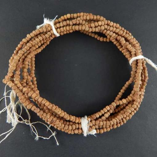 Picture of Rudraksha Beads String (109 pcs) 4mm, Natural Colour