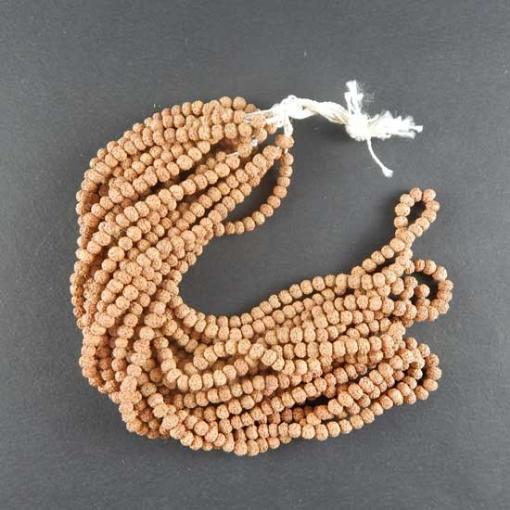 Picture of Rudraksha Beads String (109 pcs) 5mm, Natural Colour