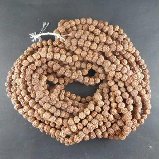 Picture of Rudraksha Beads String (109 pcs) 9mm, Natural Colour