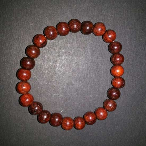 Picture of Red Sandal Wood Beads Bracelet