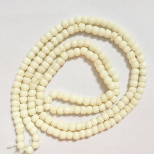 Picture of 4mm Round Bone Beads