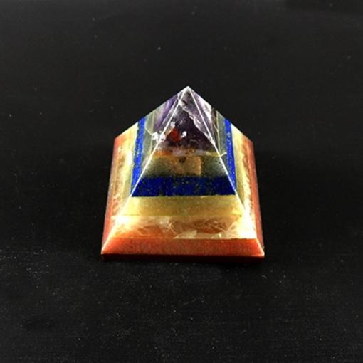 Picture of 7 Chakra Stone 7 Stone  Pyramid