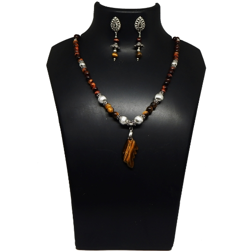 Picture of Gemstone Tiger's EyeBeads Necklace