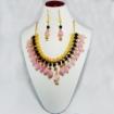 Picture of Gemstone Rose Quartz Tumble & Stone beads Necklace