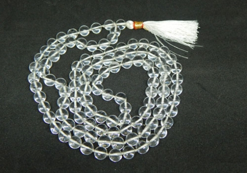 Picture of Crystal Quartz Mala : 108+1 Beads Knotted Mala
