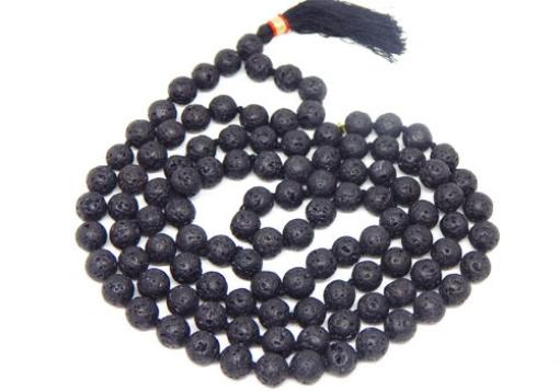 Picture of Lava Mala : 108+1 Beads Knotted Mala