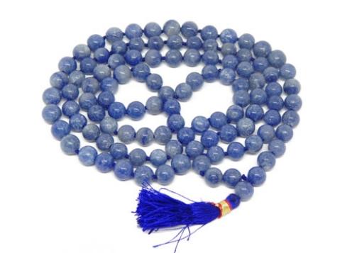 Picture of Sodalite Mala : 108+1 Beads Knotted Mala