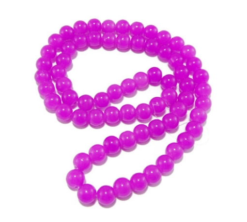 8mm Round Glass Beads