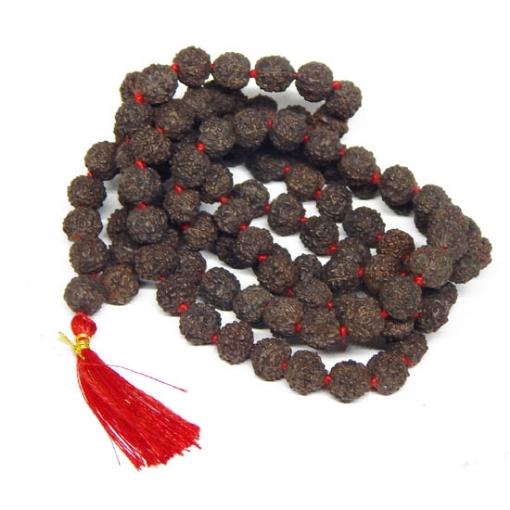 Black Rudraksha Beads String 8mm