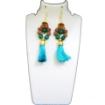 Picture of Rudraksha & Stone Beads Earrings