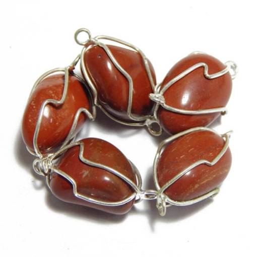 Red Jasper Wire Wrapped Tumble