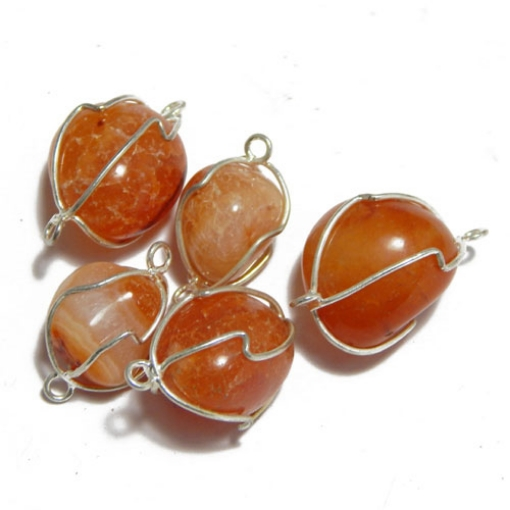 Carnelian  Wire Wrapped Tumble