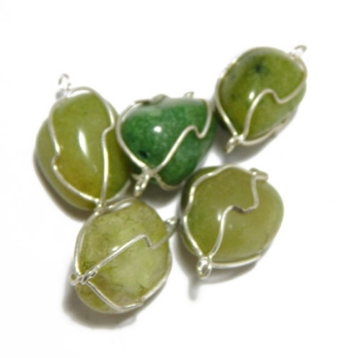 Green Aventurine Wire Wrapped Tumble