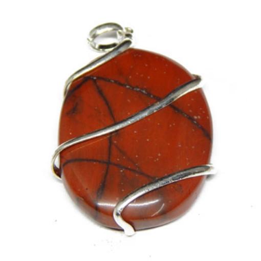 Red Jasper Oval Pendant