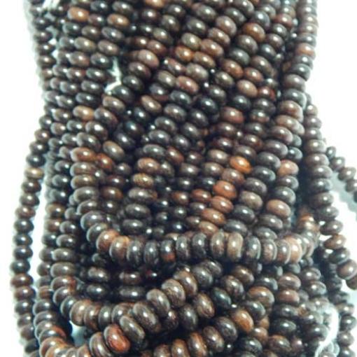 Rose Wood Tyre Shape beads 8mm